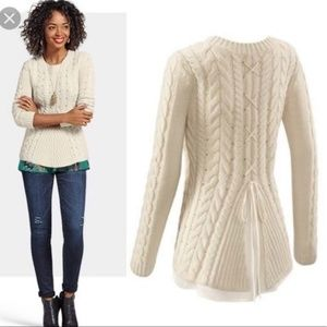 Cabi 3157 Lace Up Sweater